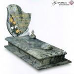 Lapide art.87 in granito Verde Acquario intarsiato